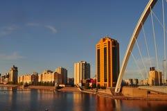 Lungomare della città di Astana immagini stock