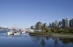 Lungomare della città di Vancouver Fotografia Stock