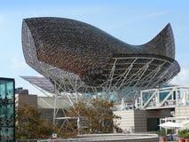 Lungomare di Barcellona del baldacchino dei pesci Fotografie Stock