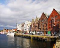 Lungomare di Bergen, Norvegia Immagini Stock Libere da Diritti
