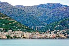 Lungomare di Genova, Italia fotografie stock