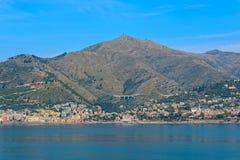 Lungomare di Genova, Italia fotografia stock