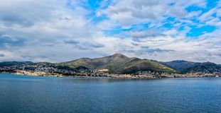 Lungomare di Genova, Italia immagini stock libere da diritti