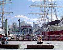 Lungomare di Manhattan fotografia stock