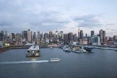 Lungomare di Manhattan di Midtown Fotografia Stock