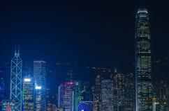 Lungomare di paesaggio urbano di Hong Kong sopra il porto di Victoria, Immagine Stock