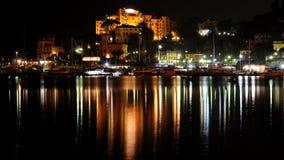 Lungomare di Rapallo, Genova, Italia Fotografia Stock Libera da Diritti