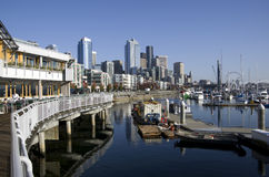 Lungomare di Seattle Immagine Stock