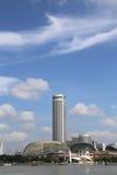 Lungomare di Singapore con bello cielo blu Fotografia Stock