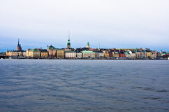 Lungomare di Stoccolma fotografia stock libera da diritti