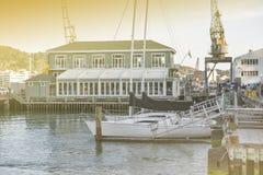 Lungomare di Wellington, isola del nord della Nuova Zelanda Immagini Stock Libere da Diritti