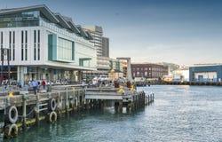 Lungomare di Wellington, isola del nord della Nuova Zelanda Fotografie Stock