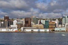 Lungomare di Wellington, isola del nord della Nuova Zelanda Fotografia Stock