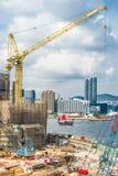 Lungomare Hong Kong dell'orizzonte di Kowloon Immagine Stock Libera da Diritti