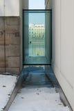Lungomare moderno di Praga di architettura Immagine Stock