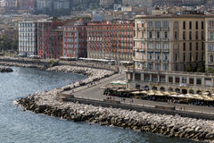 Lungomare in Naples, Italy Royalty Free Stock Image