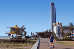 Lungomare Queensland Australia di paradiso dei surfisti Fotografie Stock Libere da Diritti