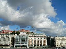 Lungomare und adriatische Küste in der Herbstsaison in Neapel Stockbild
