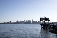 Lungomare Vancouver del nord Immagine Stock