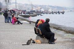 lungonmare, banchina, Turchia, Costantinopoli Fotografie Stock