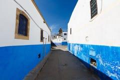 Lungonmare e Kasbah di Bou Regreg del fiume in Medina di Rabat, Marocco immagini stock libere da diritti