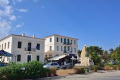 Lungonmare in Lavrion, Grecia Immagine Stock