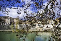 Lungotevere Royaltyfria Bilder