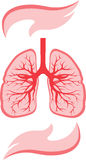 Lungs and hands icon Royalty Free Stock Photos