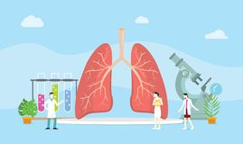 Lungs healthy treatment concept mangement with team doctor discuss -  illustration. Lungs healthy treatment concept mangement with team doctor discuss royalty free illustration