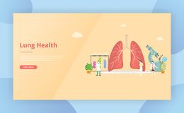 Lungs healthy treatment concept for website template page design - vector illustration. Lungs healthy treatment concept for website template page design - vector vector illustration