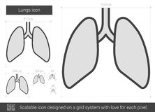 Lungs line icon. Royalty Free Stock Photos