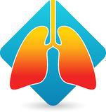 Lungs logo. Illustration art of a lungs logo with isolated background Stock Images