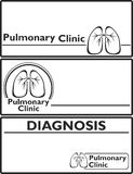 Lungs sign, medical background Royalty Free Stock Photography