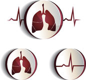 Lungs signs Royalty Free Stock Images