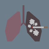 Lungs with smoke Stock Images