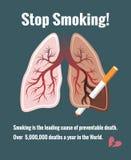 Lungs and smoking, stop smoking Stock Photo