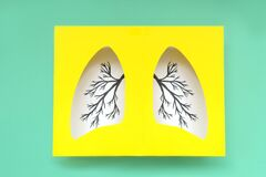 Free Lungs Symbol Paper Art Stock Photography - 181485882