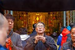 Lungshan-Tempel von Manka in Taiwan Stockbilder