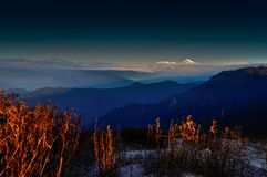 Lungthang view point, sikkim, India. Lungthang view point in morning, sikkim, India Royalty Free Stock Images