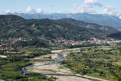 Lunigiana område av norr Tuscany, Italien Arkivfoto