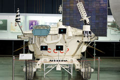 Lunokhod 2 in space exploration museum in Kaluga,. Russia royalty free stock images
