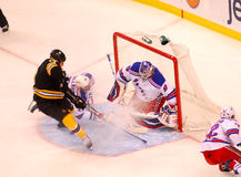 Lunqvist makes the save. Stock Photos