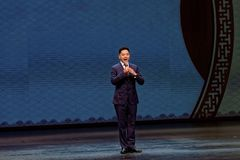 Luo Cheng Calls la puerta Plum Blossom Prize Art Troupe Abierto-china Imagenes de archivo
