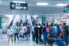 Luobao subway lines internal Royalty Free Stock Image