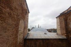 Luoghi pubblici una moschea blu del patrimonio mondiale nella città storica della Turchia fotografia stock libera da diritti