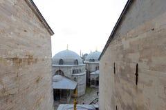 Luoghi pubblici una moschea blu del patrimonio mondiale nella città storica della Turchia fotografie stock