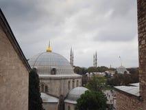 Luoghi pubblici una moschea blu del patrimonio mondiale nella città storica della Turchia immagine stock libera da diritti