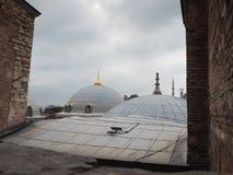 Luoghi pubblici una moschea blu del patrimonio mondiale nella città storica della Turchia fotografie stock libere da diritti
