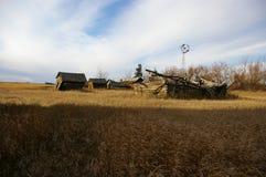 Luogo abbandonato dell'azienda agricola Fotografie Stock