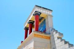 Luogo Archaeological di Knossos. Palazzo di Minoan. Cre immagini stock libere da diritti
